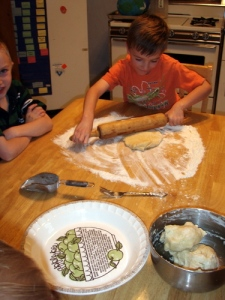 Rolling out the pie crust
