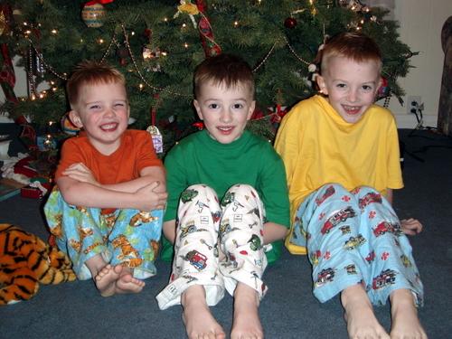 My 3 cuties in their new pjs
